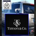 Tiffany Co. Decal Sticker Logo Stacked White Vinyl Emblem 120x120