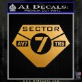 Transformers Sector 7 Decal Sticker Metallic Gold Vinyl 120x120