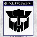 Transformers Wreckers Autobot Special Forces Decal Sticker Black Vinyl Logo Emblem 120x120
