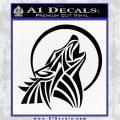 Tribal Wolf Moon Howl V2 Decal Sticker Black Vinyl Logo Emblem 120x120