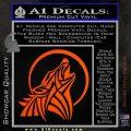 Tribal Wolf Moon Howl V2 Decal Sticker Orange Vinyl Emblem 120x120