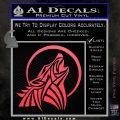 Tribal Wolf Moon Howl V2 Decal Sticker Pink Vinyl Emblem 120x120