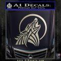Tribal Wolf Moon Howl V2 Decal Sticker Silver Vinyl 120x120