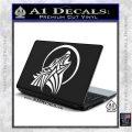Tribal Wolf Moon Howl V2 Decal Sticker White Vinyl Laptop 120x120