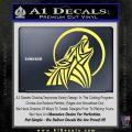 Tribal Wolf Moon Howl V2 Decal Sticker Yellow Vinyl 120x120