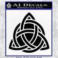 Trinity Knot Triquetra D2 Decal Sticker Black Vinyl Logo Emblem 120x120