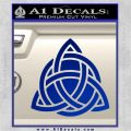 Trinity Knot Triquetra D2 Decal Sticker Blue Vinyl 120x120
