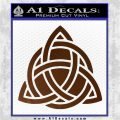 Trinity Knot Triquetra D2 Decal Sticker Brown Vinyl 120x120