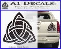 Trinity Knot Triquetra D2 Decal Sticker Carbon Fiber Black 120x97