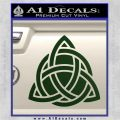 Trinity Knot Triquetra D2 Decal Sticker Dark Green Vinyl 120x120