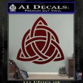 Trinity Knot Triquetra D2 Decal Sticker Dark Red Vinyl 120x120