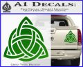 Trinity Knot Triquetra D2 Decal Sticker Green Vinyl 120x97