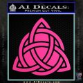 Trinity Knot Triquetra D2 Decal Sticker Hot Pink Vinyl 120x120