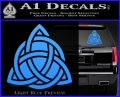 Trinity Knot Triquetra D2 Decal Sticker Light Blue Vinyl 120x97