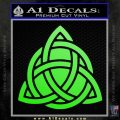 Trinity Knot Triquetra D2 Decal Sticker Lime Green Vinyl 120x120