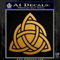 Trinity Knot Triquetra D2 Decal Sticker Metallic Gold Vinyl 120x120