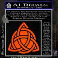 Trinity Knot Triquetra D2 Decal Sticker Orange Vinyl Emblem 120x120