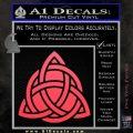 Trinity Knot Triquetra D2 Decal Sticker Pink Vinyl Emblem 120x120