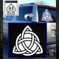 Trinity Knot Triquetra D2 Decal Sticker White Vinyl Emblem 120x120