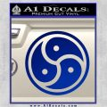 Triple Yin Yang Decal Sticker Blue Vinyl 120x120