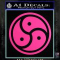 Triple Yin Yang Decal Sticker Hot Pink Vinyl 120x120