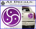 Triple Yin Yang Decal Sticker Purple Vinyl 120x97