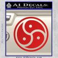 Triple Yin Yang Decal Sticker Red Vinyl 120x120