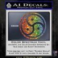 Triple Yin Yang Decal Sticker Sparkle Glitter Vinyl Sparkle Glitter 120x120