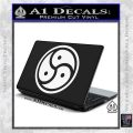 Triple Yin Yang Decal Sticker White Vinyl Laptop 120x120