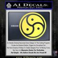Triple Yin Yang Decal Sticker Yellow Vinyl 120x120