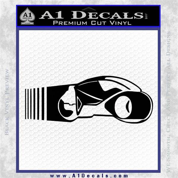 Tron Lightcycle Decal Decal Sticker Black Vinyl Logo Emblem