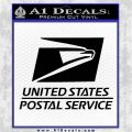 USPS Decal Sticker DST Black Vinyl Logo Emblem 120x120