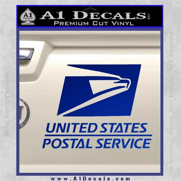 USPS Decal Sticker DST Blue Vinyl