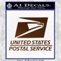 USPS Decal Sticker DST Brown Vinyl 120x120