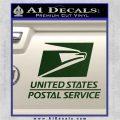 USPS Decal Sticker DST Dark Green Vinyl 120x120