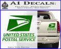 USPS Decal Sticker DST Green Vinyl 120x97
