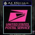 USPS Decal Sticker DST Hot Pink Vinyl 120x120