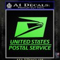 USPS Decal Sticker DST Lime Green Vinyl 120x120