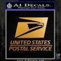 USPS Decal Sticker DST Metallic Gold Vinyl 120x120