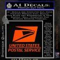 USPS Decal Sticker DST Orange Vinyl Emblem 120x120