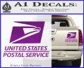 USPS Decal Sticker DST Purple Vinyl 120x97