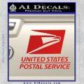 USPS Decal Sticker DST Red Vinyl 120x120