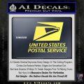 USPS Decal Sticker DST Yellow Vinyl 120x120