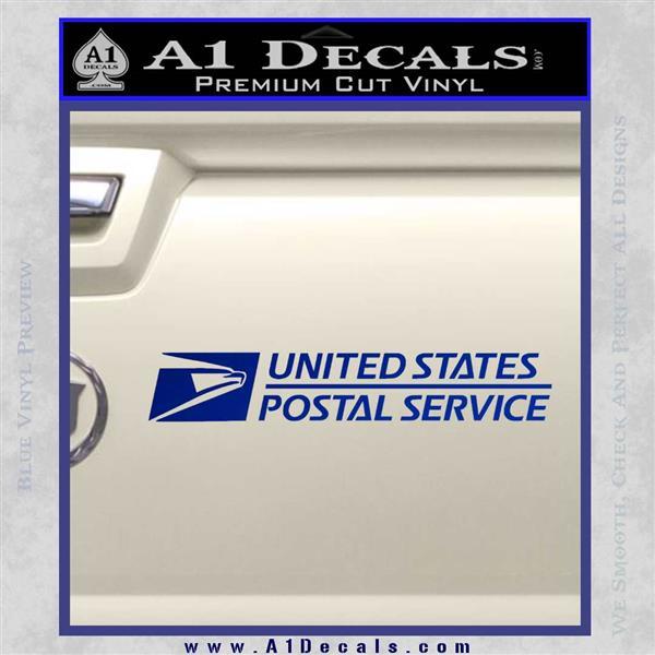 USPS Decal Sticker DW Blue Vinyl