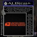 USPS Decal Sticker DW Orange Vinyl Emblem 120x120