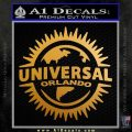 Universal Studios Orlando Decal Sticker CR Metallic Gold Vinyl 120x120