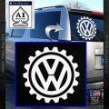 VW Decal Sticker Gear D1 White Vinyl Emblem 120x120