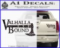 Valhalla Bound Decal Sticker Viking Carbon Fiber Black 120x97