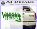 Valhalla Bound Decal Sticker Viking Green Vinyl 120x97