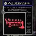 Valhalla Bound Decal Sticker Viking Pink Vinyl Emblem 120x120